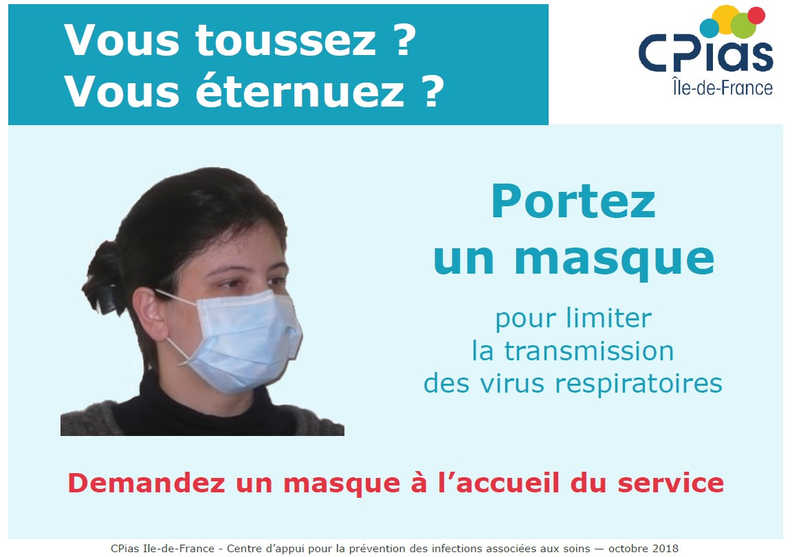 masque protection grippe et virus